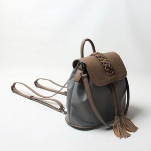 韩版降落伞尼龙水桶包单双肩背包手提牛津布小包编织斜挎流苏女包