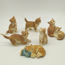 Simulation kitten home decorations ornaments creative gifts, lovely gift resin, animal kitten crafts display