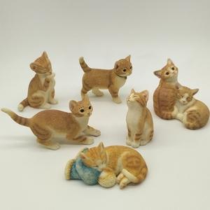 仿真小猫家居装<span class=H>饰品</span>摆件创意礼物可爱礼品树脂动物猫咪工艺品摆设