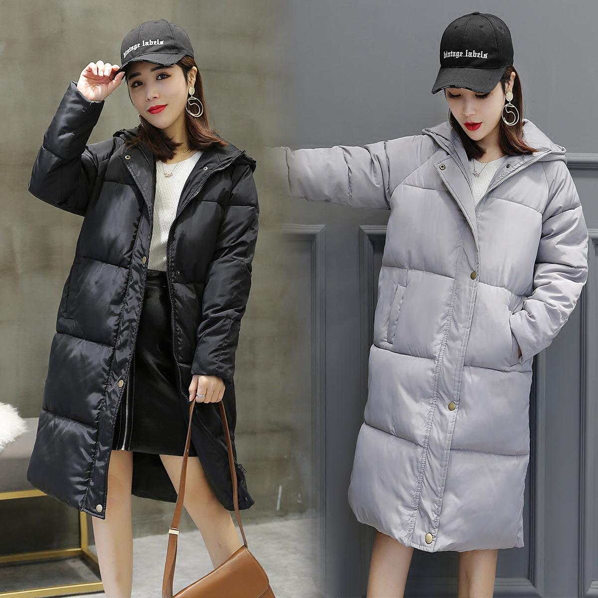面包服女中长款冬季韩版羽绒棉衣宽松蓬蓬棉服百搭过膝加肥加大潮