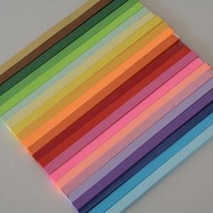 幸运星折纸七夕生日礼物玻璃瓶木塞糖果色叠星星的纸纯色折纸材料