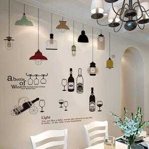 创意墙纸自粘墙画个性卧室房间贴纸温馨餐厅墙上墙壁贴画墙面装饰