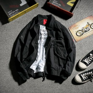 原创MA-1飞行夹克男秋季宽松上衣国潮复古青少年空军工装外套