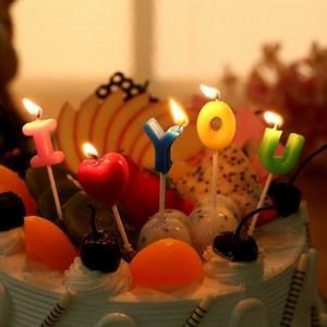 兒童韓國創意<span class=H>彩色</span>溫馨雅光無煙動物<span class=H>生日</span><span class=H>蠟燭</span>套餐<span class=H>生日</span>派對蛋糕裝飾