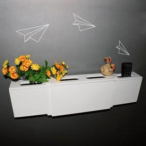 简单日子插座遮挡<span class=H>电线</span>收纳盒集线盒壁挂墙插排线板收纳开门装饰