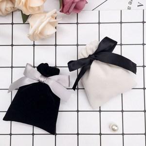 丝带缎带绒布袋子束口袋珠宝首饰礼品包装婚礼婚庆喜糖袋定制LOGO
